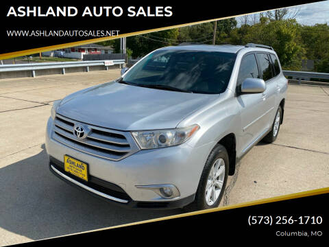 2012 Toyota Highlander for sale at ASHLAND AUTO SALES in Columbia MO