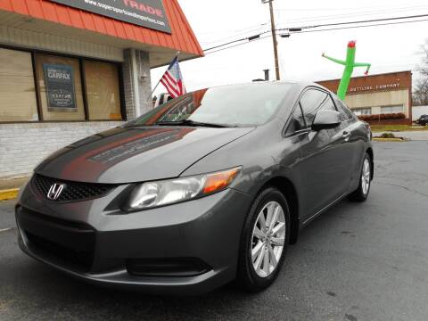 2012 Honda Civic for sale at Super Sports & Imports in Jonesville NC