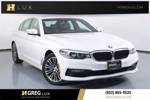 2018 BMW 5 Series for sale at HGREG LUX EXCLUSIVE MOTORCARS in Pompano Beach FL