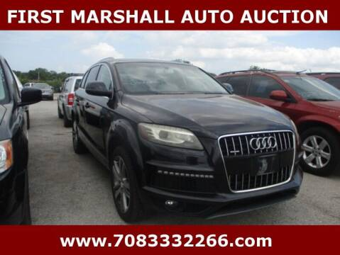 2011 Audi Q7 for sale at First Marshall Auto Auction in Harvey IL