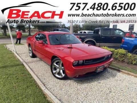 2013 Dodge Challenger for sale at Beach Auto Brokers in Norfolk VA