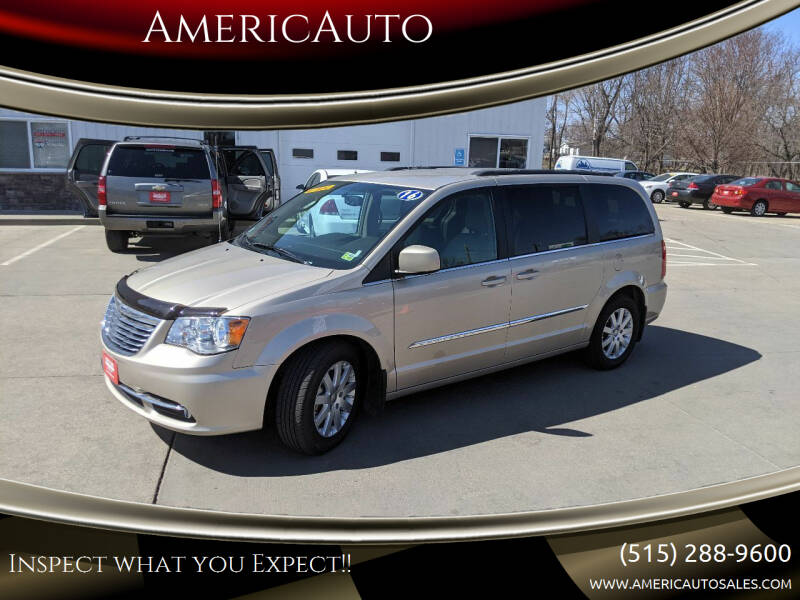 2016 Chrysler Town and Country for sale at AmericAuto in Des Moines IA