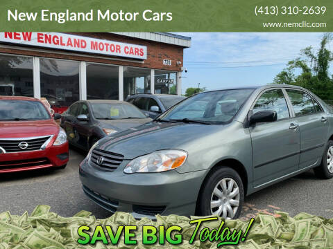 2004 Toyota Corolla for sale at New England Motor Cars in Springfield MA