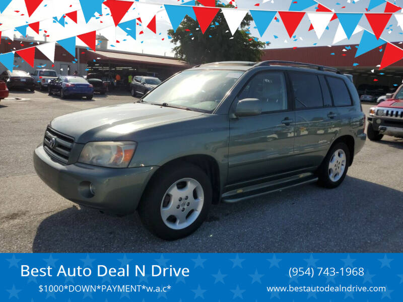 2007 Toyota Highlander for sale at Best Auto Deal N Drive in Hollywood FL