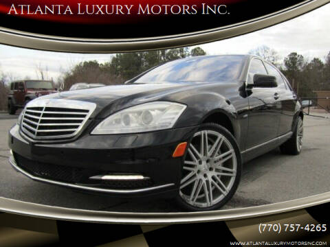 2012 Mercedes-Benz S-Class for sale at Atlanta Luxury Motors Inc. in Buford GA