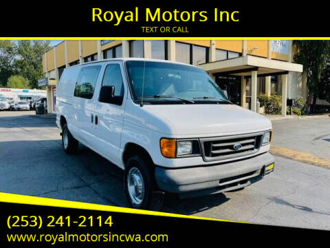 2005 Ford E-Series Cargo for sale at Royal Motors Inc in Kent WA