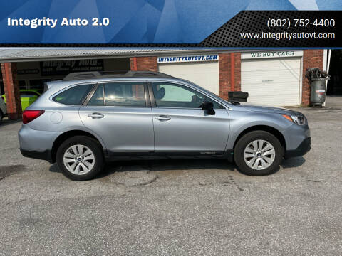 2017 Subaru Outback for sale at Integrity Auto 2.0 in Saint Albans VT