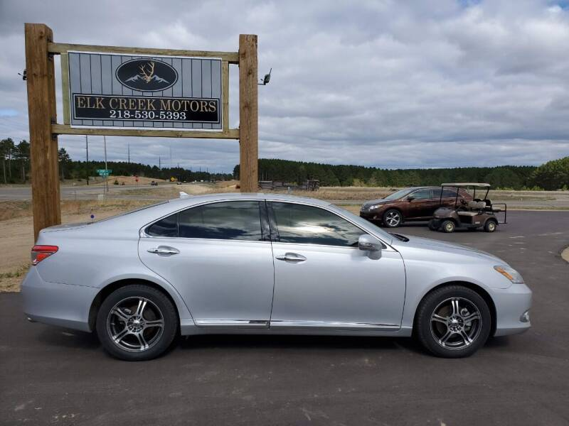 2012 Lexus ES 350 for sale at Elk Creek Motors LLC in Park Rapids MN