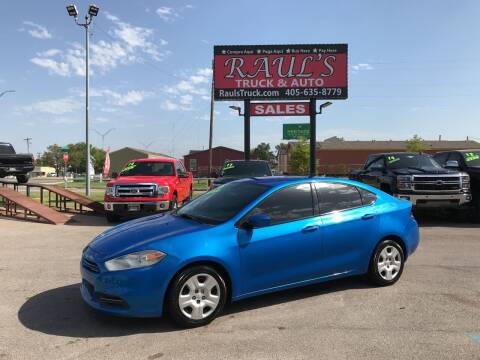 2016 Dodge Dart for sale at RAUL'S TRUCK & AUTO SALES, INC in Oklahoma City OK