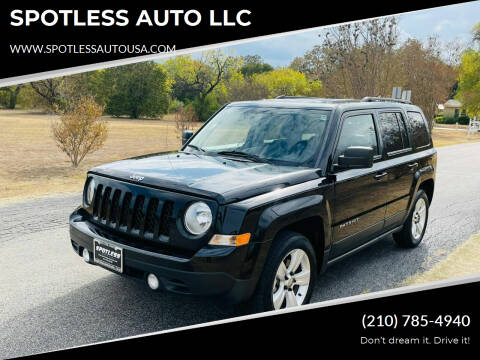 2015 Jeep Patriot for sale at SPOTLESS AUTO LLC in San Antonio TX