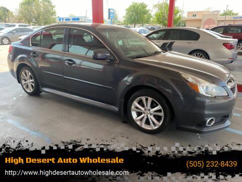 2013 Subaru Legacy for sale at High Desert Auto Wholesale in Albuquerque NM