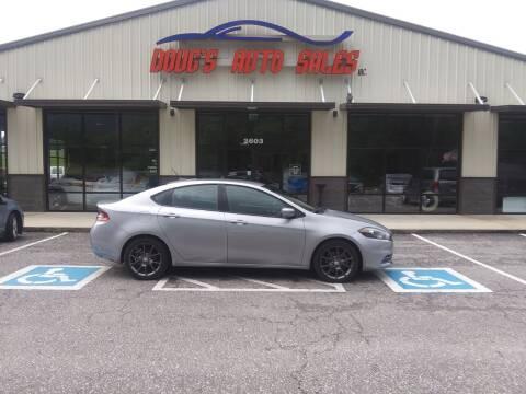 2016 Dodge Dart for sale at DOUG'S AUTO SALES INC in Pleasant View TN