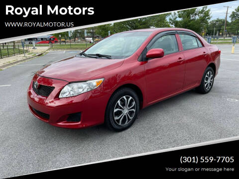 2010 Toyota Corolla for sale at Royal Motors in Hyattsville MD
