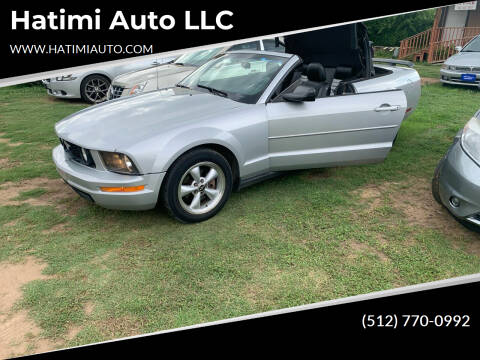 2007 Ford Mustang for sale at Hatimi Auto LLC in Buda TX