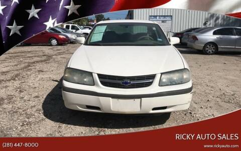 2004 Chevrolet Impala for sale at Ricky Auto Sales in Houston TX
