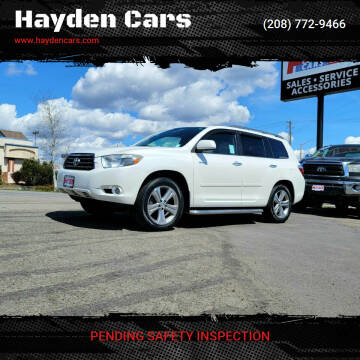 2010 Toyota Highlander for sale at Hayden Cars in Coeur D Alene ID