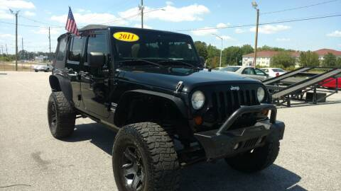 2011 Jeep Wrangler Unlimited for sale at Kelly & Kelly Supermarket of Cars in Fayetteville NC
