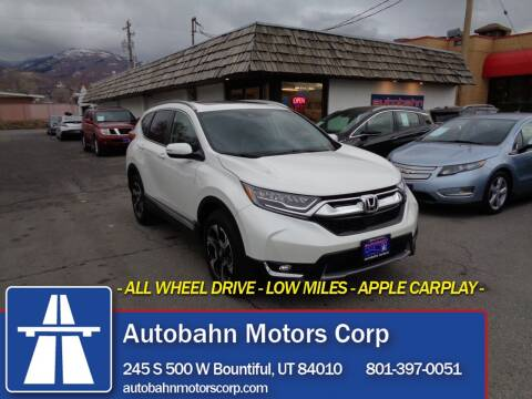 2019 Honda CR-V for sale at Autobahn Motors Corp in Bountiful UT