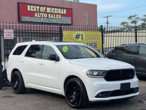 2017 Dodge Durango for sale at Best of Michigan Auto Sales in Detroit MI
