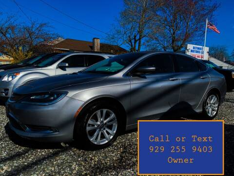 2016 Chrysler 200 for sale at Ultimate Motors in Port Monmouth NJ