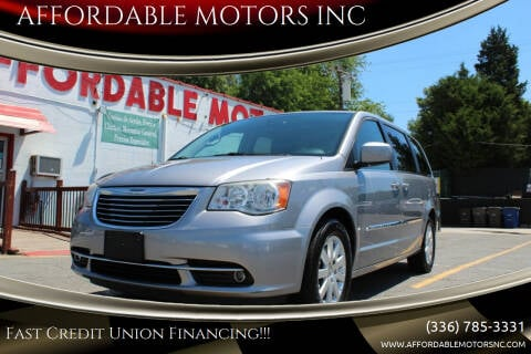 2014 Chrysler Town and Country for sale at AFFORDABLE MOTORS INC in Winston Salem NC