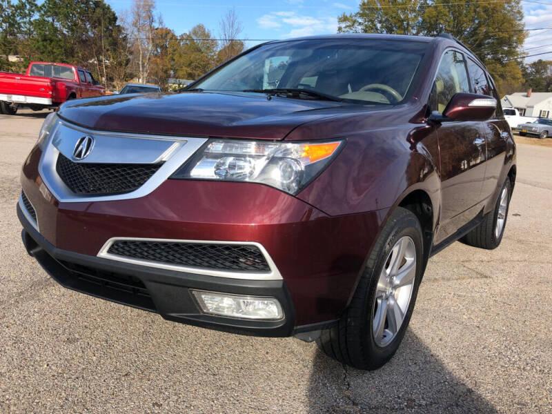 2012 Acura MDX for sale at Doug's Auto Sales in Danville VA
