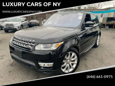 2016 Land Rover Range Rover Sport for sale at LUXURY CARS OF NY in Queens NY
