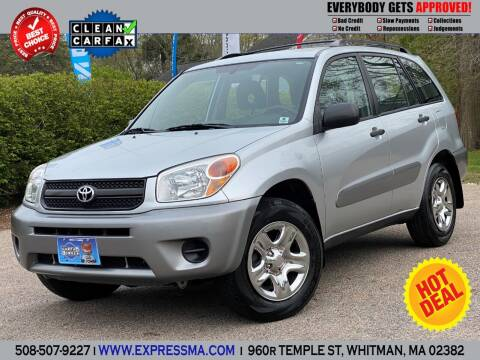 2005 Toyota RAV4 for sale at Auto Sales Express in Whitman MA
