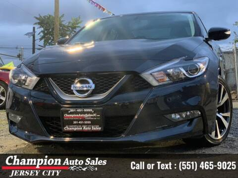 2017 Nissan Maxima for sale at CHAMPION AUTO SALES OF JERSEY CITY in Jersey City NJ