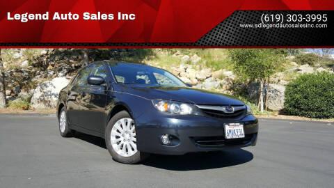 2010 Subaru Impreza for sale at Legend Auto Sales Inc in Lemon Grove CA