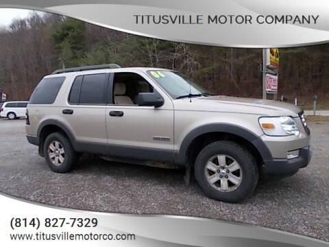 2006 Ford Explorer for sale at Titusville Motor Company in Titusville PA
