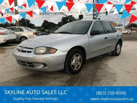 2004 Chevrolet Cavalier for sale at SKYLINE AUTO SALES LLC in Winter Haven FL