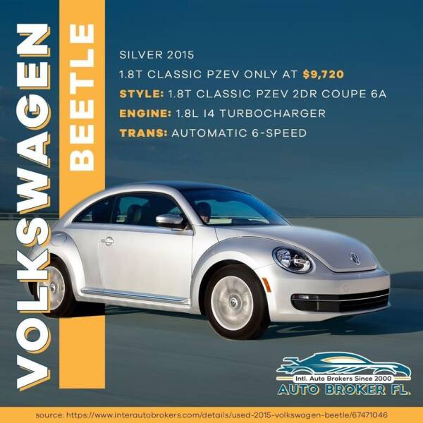 2015 Volkswagen Beetle for sale at INTERNATIONAL AUTO BROKERS INC in Hollywood FL