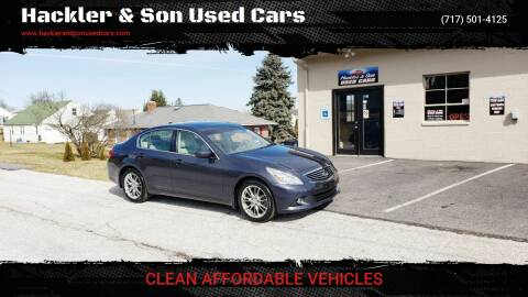 2011 Infiniti G37 Sedan for sale at Hackler & Son Used Cars in Red Lion PA