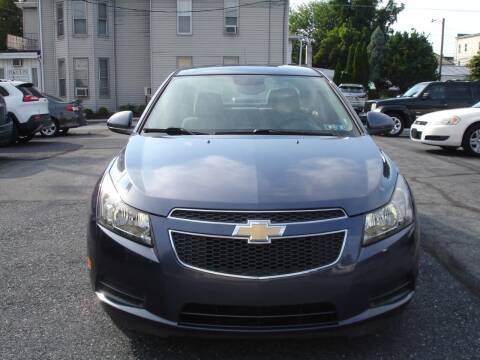 2013 Chevrolet Cruze for sale at Pete's Bridge Street Motors in New Cumberland PA