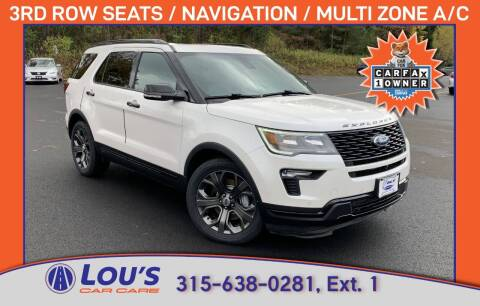 2018 Ford Explorer for sale at LOU'S CAR CARE CENTER in Baldwinsville NY