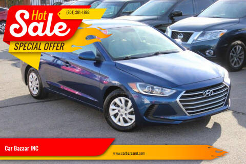 2018 Hyundai Elantra for sale at Car Bazaar INC in Salt Lake City UT