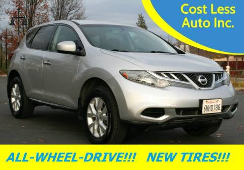 2012 Nissan Murano for sale at Cost Less Auto Inc. in Rocklin CA