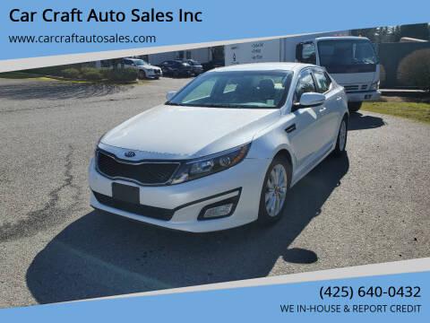 2015 Kia Optima for sale at Car Craft Auto Sales Inc in Lynnwood WA