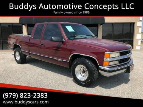 1996 Chevrolet C/K 1500 Series for sale at Buddys Automotive Concepts LLC in Bryan TX