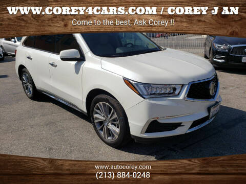 2017 Acura MDX for sale at WWW.COREY4CARS.COM / COREY J AN in Los Angeles CA