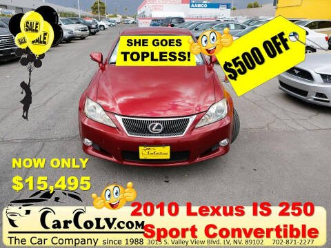 2010 Lexus IS 250C for sale at The Car Company in Las Vegas NV