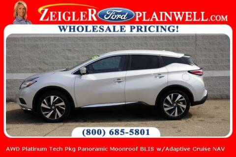 2015 Nissan Murano for sale at Zeigler Ford of Plainwell- Jeff Bishop in Plainwell MI