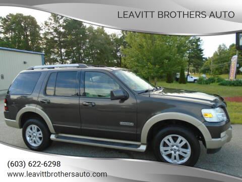 2007 Ford Explorer for sale at Leavitt Brothers Auto in Hooksett NH