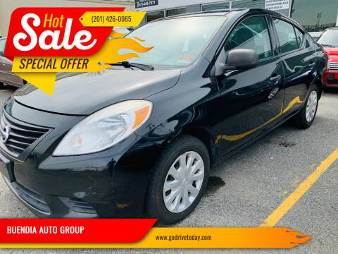 2012 Nissan Versa for sale at BUENDIA AUTO GROUP in Hasbrouck Heights NJ
