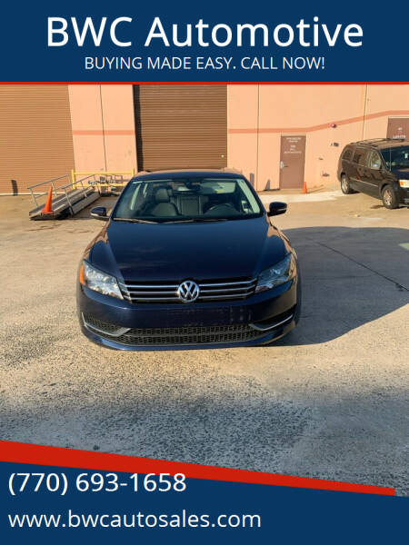 2012 Volkswagen Passat for sale at BWC Automotive in Kennesaw GA