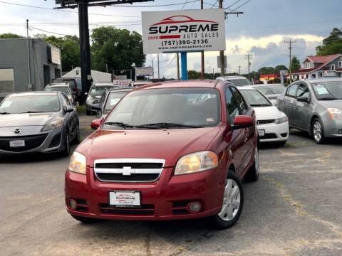 2010 Chevrolet Aveo for sale at Supreme Auto Sales in Chesapeake VA