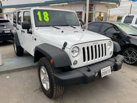 2018 Jeep Wrangler JK Unlimited for sale at CAR GENERATION CENTER, INC. in Los Angeles CA