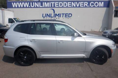 2009 BMW X3 for sale at Unlimited Auto Sales in Denver CO
