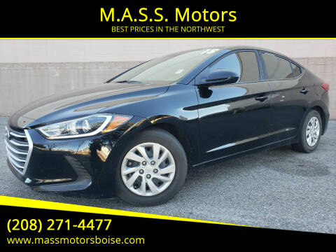 2018 Hyundai Elantra for sale at M.A.S.S. Motors in Boise ID